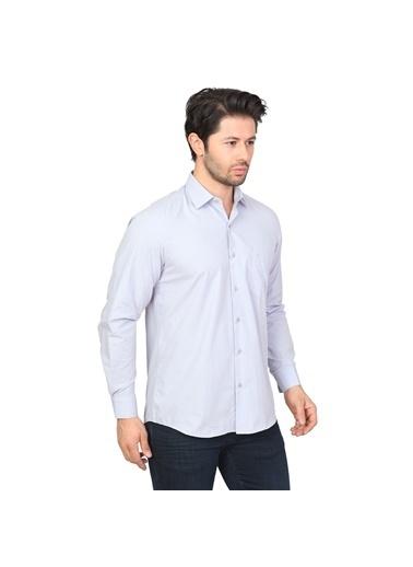 White Stone Pamuklu Regular Fit Uzun Kollu Klasik Gömlek O.Gri Gri
